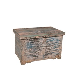 RM-26321 Vintage Chest,Teak wood, Dist. 24x15x16 inches