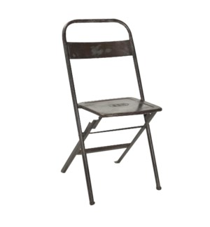 """RS-42076 Vintage Folding Chair, Iron, 16x14x32 inches"""