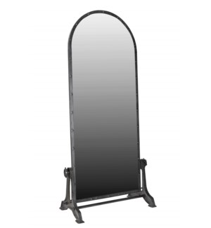 """THC-1396 Vintage Replica Mirror, Iron 35x19x77 inches"""