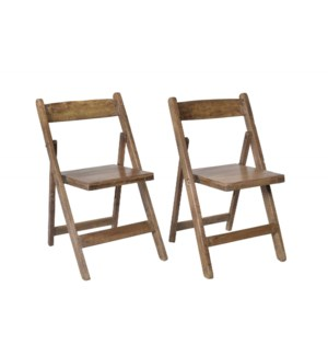 RM-32250 Vintage Folding Chair,Teak wood, 18x16x30 inches