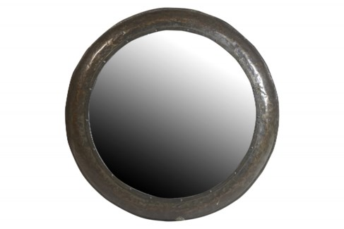 TOR-1 Vintage Replica Circle Mirror, Iron 44x44x2 inches