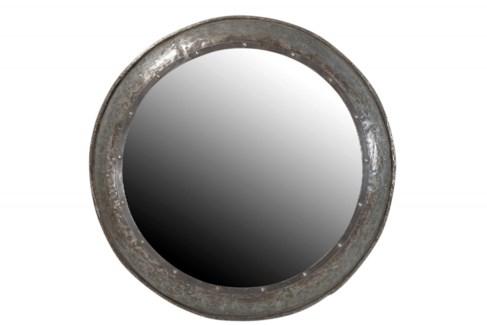 TOR-121 Vintage Replica Circle Mirror, Iron 36x36x3 inches