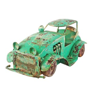 """RM-32211 - Vintage Iron Toy Jeep Green Finish, 5.1x10.2x4.5 Inches"""