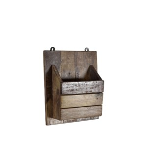 """RS-40184 - Recycled Wood Wall Pocket Organizer, 10x4x12 Inches"""