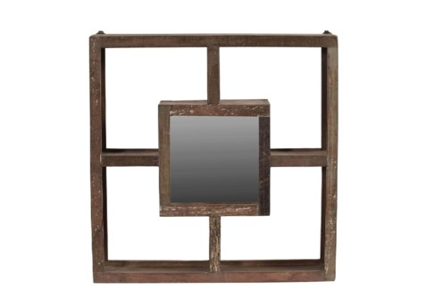 RS-40541Wood Framed Square Mirror, 25x4x25 Inches