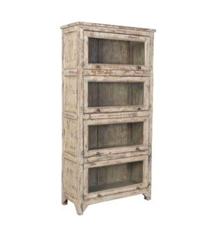 Vintage  Wood Bookshelf Cabinet, Distressed, 35.8x16x72 Inches 30 percent off original price