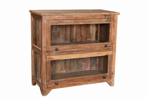 Vintage Side Cabinet Bookshelf, Natural, 39x15.7x36 Inches