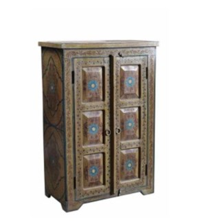 VINTAGE SMALL PAINTED CABINET