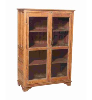 """""""RM042521 WOODEN CABINET, 2DR, NATURAL BROWN"""""""