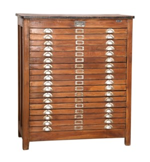 """""""RM044786 WOODEN MAP ORGNIZER CABINET, BROWN"""""""
