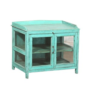 """""""RM045534 WOODEN CABINET, 2DR, TURQUOISE"""""""