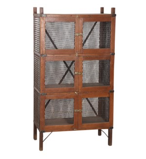 RS052011 WOODEN MESHED CABINET
