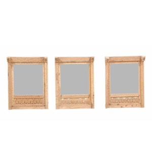 NB-001747 ART. WD. FRAME WITH MIRROR