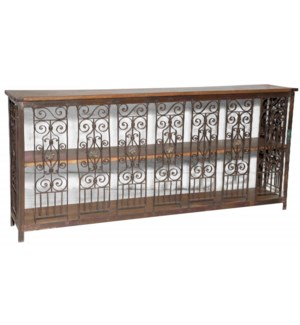 """RM-043655, Iron console table with wooden"""