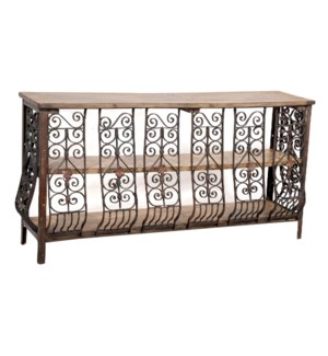 """RM-045529, Iron console table with wooden"""