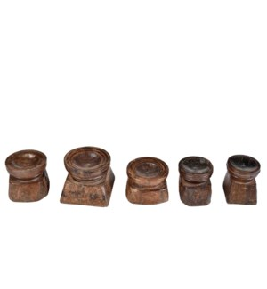 NB-001961 Art. Wooden Candle Stand