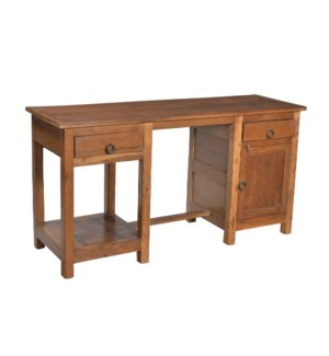 NB-002016 Wooden Writing Table With 2 Drawer