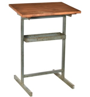NB-002017 Wooden Table Iron Stand