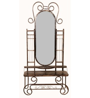 """""""RM-049168, Iron Entrance Hutch With Mirror And Chair"""""""