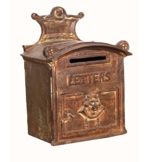 """""""RS-055047, Antqiue Cast Iron Rustic Mailbox, Weight 60 lbs"""""""