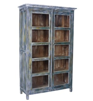Large Kitchen Cabinet, Blue, 51x19x77 in