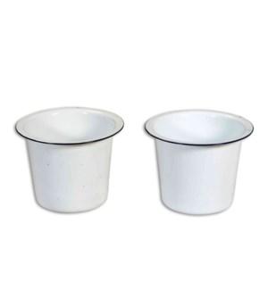 Enamel Pot/Vase also sb-165 OS