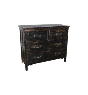 VINTAGE WOODEN CHEST OF DRAWERS W/ 4 DRAWERS