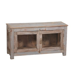 VINTAGE SMALL CREAM WOODEN CONSOLE