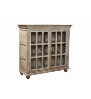 VINTAGE CREAM SMALL WOODEN CABINET