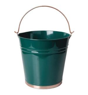 """Bucket green. Metal. 33,5x27,"""