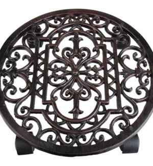 Cast iron planttrolley round.