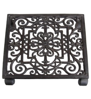 Cast iron planttrolley square.