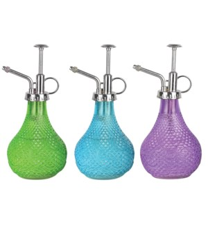 Hobnail glass plant sprayer as