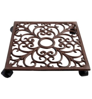 Square Plant Trolley Cast Iron