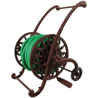 Cast iron garden hose cart. Cast iron. 47,0x40,0x48,5cm. oq/3,mc/1 Pg.93
