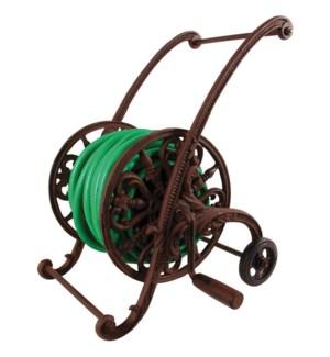 Cast iron garden hose cart. Ca