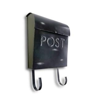 Black Rustic Euro Mailbox POST