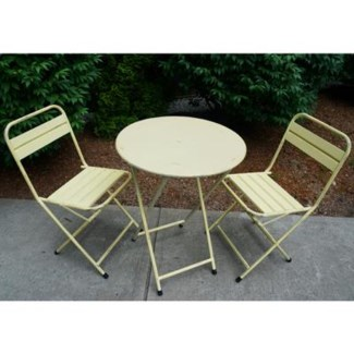 cream folding bistro table round  23.6Dx29.5inch.
