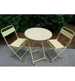 Cream Folding Bistro Table Md