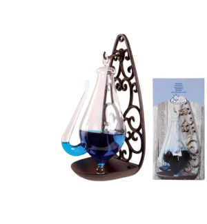 Thunderglass with castiron. Cast iron, glass, blue dye powder. 13,9x12,0x27,7cm. oq/12,mc/12 Pg.95