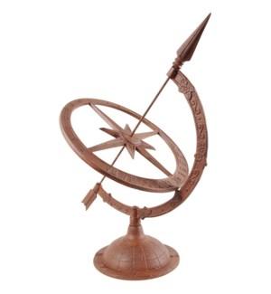 """Castiron sundial L. Cast iron. 34,3x39,8x54,2cm. oq/1,mc/1 Pg.95"""