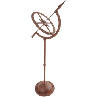 Cast iron sundial on tall foot. Cast iron. 32,0x24,5x93,0cm. oq/4,mc/4 Pg.95