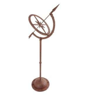 Cast iron sundial on tall foot