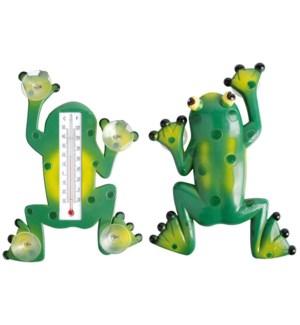 """Frog thermometer. Plastic, kerosine. 17,6x3,5x23,8cm. oq/24,mc/72 Pg.97"""