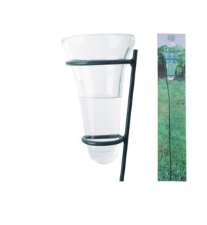 """Rain gauge glass. Metal,glass"""