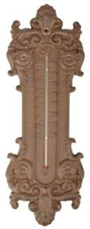 Classic thermometer. Cast iron, glass, kerosine. 13,5x1,4x37,5cm. oq/12,mc/12 Pg.95