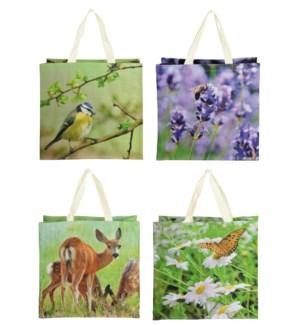 Shopping bag nature print ass