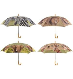 Umbrella out of Africa ass. Polyester, metal, wood. 120,0x120,0x95,0cm. oq/12,mc/48 Pg.117