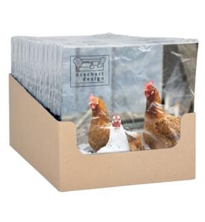 Paper Napkins chicken 33x33cm.