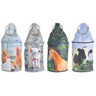 Farm animals doorstopper ass. Polyester, sand, metal. 13,0x13,0x28,5cm. oq/8,mc/8 Pg.121